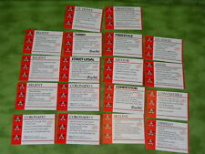 Vintage Promotional dealer Print Cards for Cyclepro Bicycles 18 cards K49