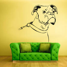 Wall Decals Vinyl Sticker Animals Dog Boxer Head Face (Z1272)