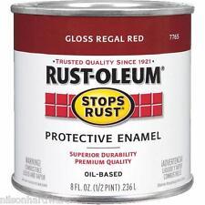 3 Pk 1/2 Pt Regal Red Rust-Oleum Protective Rust Control Enamel Paint 7765-730