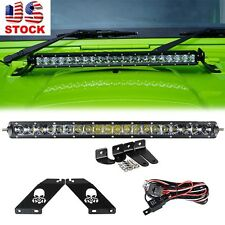 07-16 Jeep Wrangler JK Skull Mounting Brackets +  22'' 100W CREE LED Light Bar