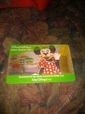 Disney * Fast Pass +  Card NO VALUE *