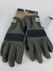 The North Face Mens Gordon Lyons Etip Glove Size Medium Taupe Green Plaid