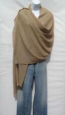 100% Cashmere|Shawl|1 Ply|2 Paddle|Hand Loomed|Nepal|'Natural'|Champagne+Tan