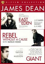 JAMES DEAN 3 Movie Set EAST Of EDEN ~ REBEL WITHOUT a CAUSE ~ GIANT