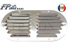 Grille Aération Ovale inox 233 x 118 mm