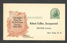 Ca 1934 PC NY R. COLLIER PUBLISHER SPECIAL COUPON FOR SALE, UNPOSTED