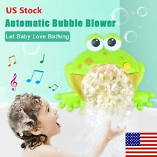 Bubble Machine Big Frog Automatic Bubble Maker Blower Music Bath Toys For Baby S