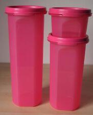 Tupperware Round Modular Mates Set 3 #1,3,4 Pink New