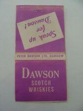 Pochette allumettes - DAWSON - Scotch / Whiskies - GLASGOW - UK - (256)