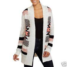 No Boundaries Juniors Girls Aztec/Striped Cardigan Sweater Size 7-9 Medium