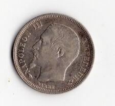 QUALITE MONNAIE 50 CENTIMES ARGENT NAPOLEON III DE 1858 A @ PARIS @ SILVER COINS