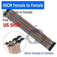 NEW 40 Pcs Female to Female Jumper Cable Dupont Wires 40cm 2.54mm for Arduino