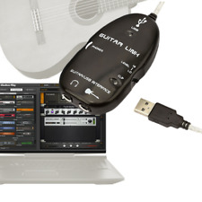 Guitar to USB PC Mac RIG 5 MIDI Interface Link Audio Recording Recorder Adapter