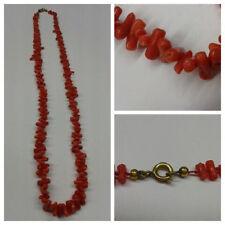 Très Jolie Style Ancien collier de corail Corail Collier 54 cm long