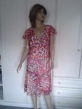 MODA @ GEORGE DRESS SIZE 14 LINED PINK,ORANGE WHITE BNWOT