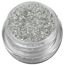Muschelsplitter Crushed Shells Glitter Glitzer Silber-Grau Nail Art #00211-04