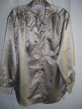 Women's Susan Hutton Pewter Button Down Polyester Long-Sleeve Robe(Size 10)