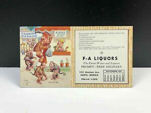 Vintage LAWSON WOOD It's In The Bag Marketing Postcard