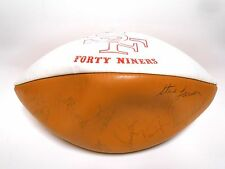 Randy Cross Jimmie Johnson Banaszek 1976 1977 49ers Autographed Signed Football