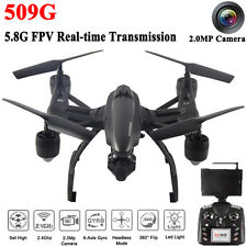 509G 6-Axis Gyro RC RTF Quadcopter Drones 5.8G HD 2MP Camera FPV HD Monitor UK