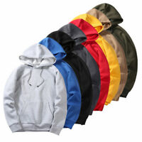 Fashion Men's Hip Hop Sweatshirts Hooded Streetwear Leisure Loose Solid Tops XXL