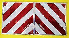 2 x WARNTAFEL REFLEKTOR Warnaufkleber rot weiß links + rechts  20 x 20 cm  #W62