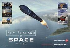 New Zealand 2018 MNH NZ in Space Rocket Lab 6v M/S Landscapes Stamps