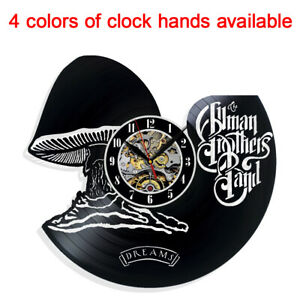 The Allman Brothers Band Dreams Vinyl Wall Clock Record Gift Decor Feast Day Art