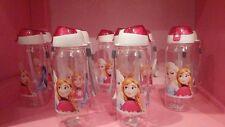 Disney Frozen Anna & Elsa 10oz Water Bottle with flip top lid & straw