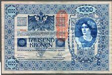 Austria 1902 Banknote 1000 Kronen Paper Money Large size Oesterreichisch