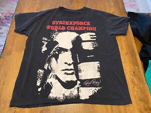 Vintage Ronda Rousey Strikeforce World Champion Shirt RARE MMA Cage Fight