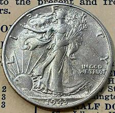 1943-S  50¢ U.S. Walking Liberty Half Dollar Silver Coin  San Francisco