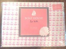 Pink White Anchor FULL Sheet Set NEW 4pc Set Sheets Nautical Coastal Boat Cotton