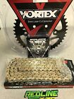 Vortex 520 sprocket kit gold chain , front and rear for 2006-2018 Yamaha R6