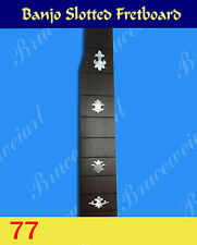 Free Shipping, Banjo Part - Slotted Rosewood Fretboard w/MOP Art Inlay (77)