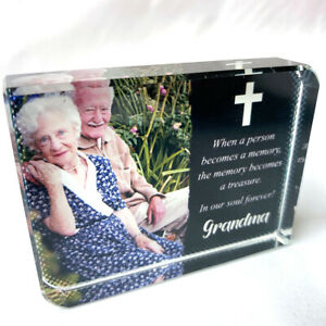 Quote with Person Name and Picture Personalised Printed LargeCrystal Block Gift