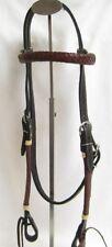 Western Horse Headstall - Reddish Brown/Black - Braided Weave - New