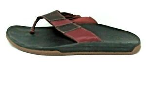 Chaco Mens Chaka Flip Flops (Port, Size 9) Ret $85, HUGE Sale, Free Shipping!