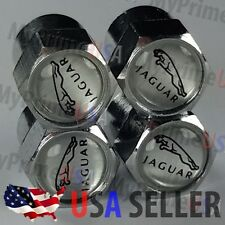 Jaguar Valve Caps Logo Stem Covers Chrome Rims Wheel Roundel Car Tire Emblem USA