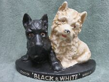 BUCHANAN'S BLACK & WHITE SCOTCH WHISKY DOG BAR Cast Iron Sign display door stop