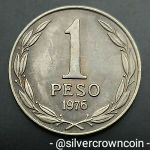 Chile 1 Peso 1976 So. KM#208. One Dollar coin. 1976-1977 years issue.