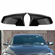 M3 Look Side Mirror Cover Caps Replacement For 2012-18 BMW F30 Sedan Painted Blk