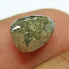 4.02 Ct GII CERT 100% Natural Untreated Greenish Brown Pear Shape Loose Diamond