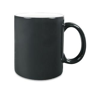 Magic Zaubertasse mit eigenem Foto, Text, Logo bedruckte Tasse, schwarz