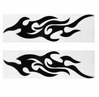 2x Flammen Tribal Sticker Aufkleber Auto Motorrad Dekor Flamme schwarz racing