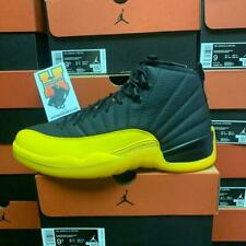 2020 Nike Air Jordan Retro 12 XII Black Gold Yellow Men 130690-070 Size: 4y-14