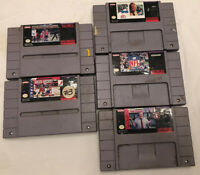 Madden NFL Snes Nba Nhlpa Lot Of Super Nintendo Games