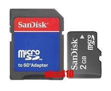 Sandisk 2GB 2G Micro SD TF MicroSD Memory Card with SD adapter in Sydney