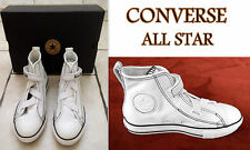 "BASKETS MONTANTES ""CONVERSE/ALL STAR"" EN CUIR BLANC POINT.34 NEUVES AVEC BOITE"