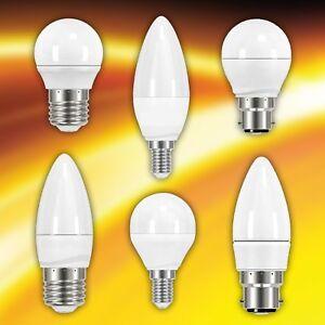 Energizer 6w=40w LED Energy Saving Light Bulb Golf Candle E14 SES E27 ES B22 BC